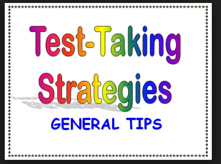 TOEFL test-taking strategies